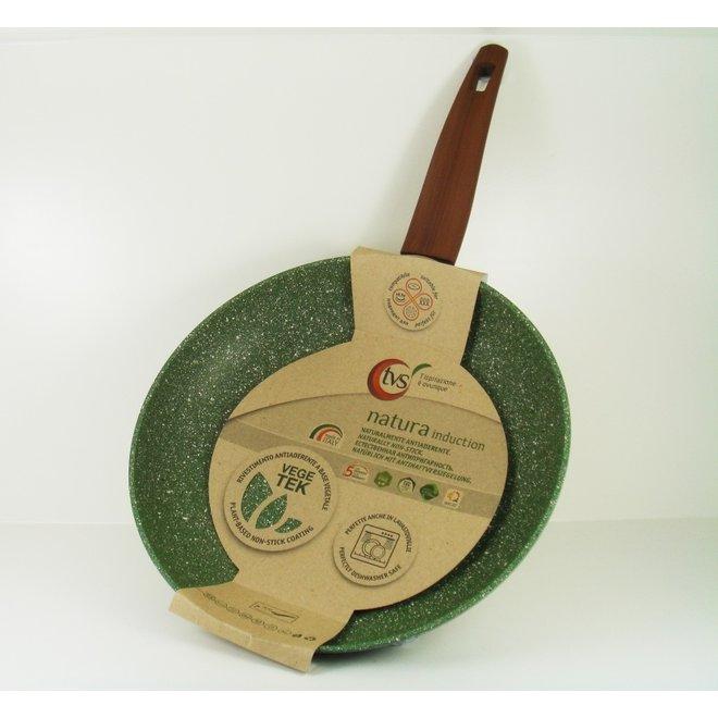 Koekenpan 30cm met hout-look greep - VegeTek