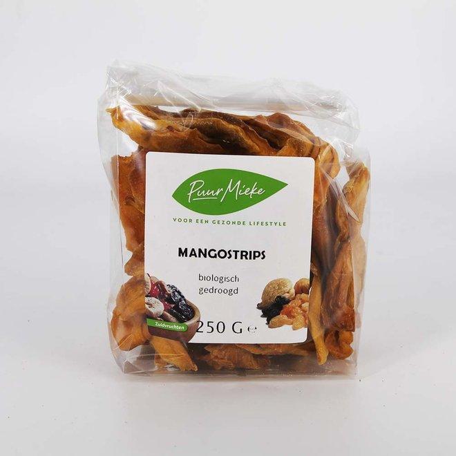 Mango reepjes gedroogd - 250g - BIO