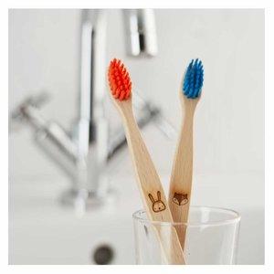 ecoLiving Tandenborstel voor Kinderen - Vos - Blauw