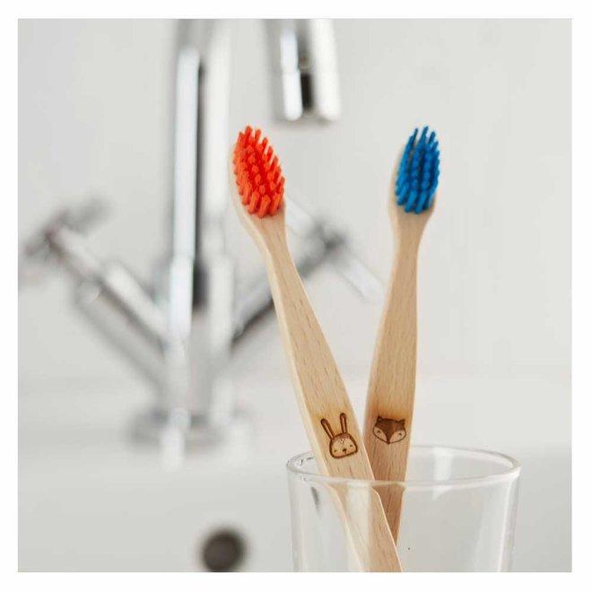 Tandenborstel voor Kinderen - Vos - Blauw