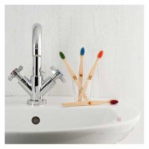 ecoLiving Tandenborstel voor Kinderen - Konijn - Rood