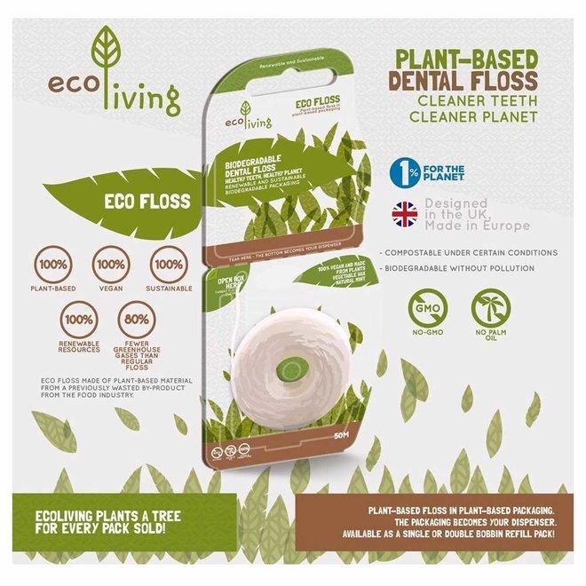 Eco Flosdraad - 100% Plantaardig - 2 x 50 meter