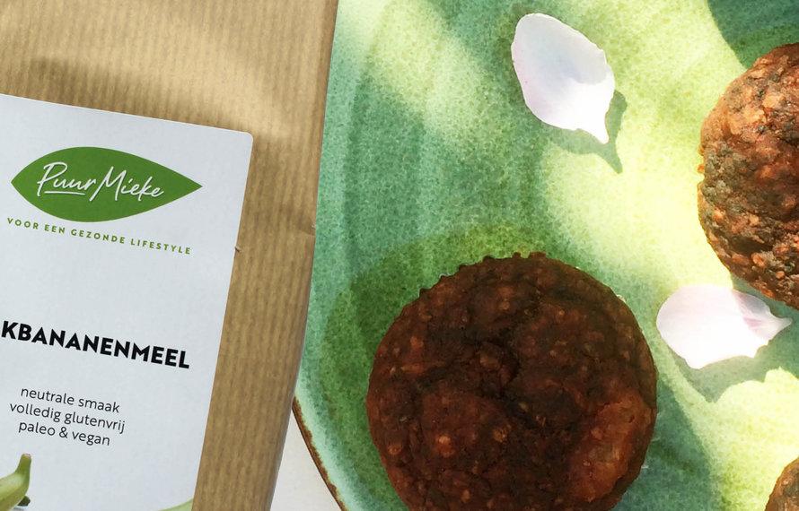 Chocolade Cupcakes met Bakbananenmeel en Abrikozen
