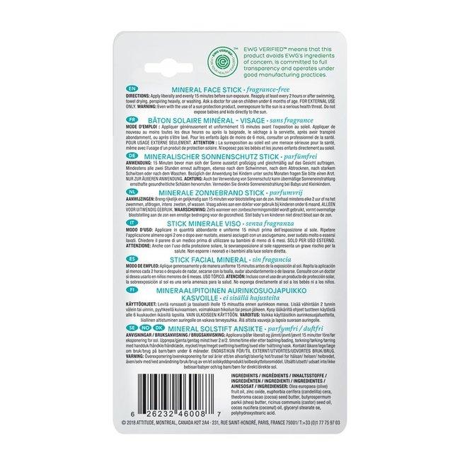 Baby & Kind Minerale Zonnebrand Stick SPF30 - Parfumvrij - 18,4g