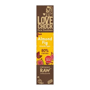 Lovechock Amandel / Vijg 81% cacao - 40g - BIO