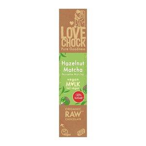 Lovechock Hazelnoot / Matcha - Vegan Mlk - 40g - BIO