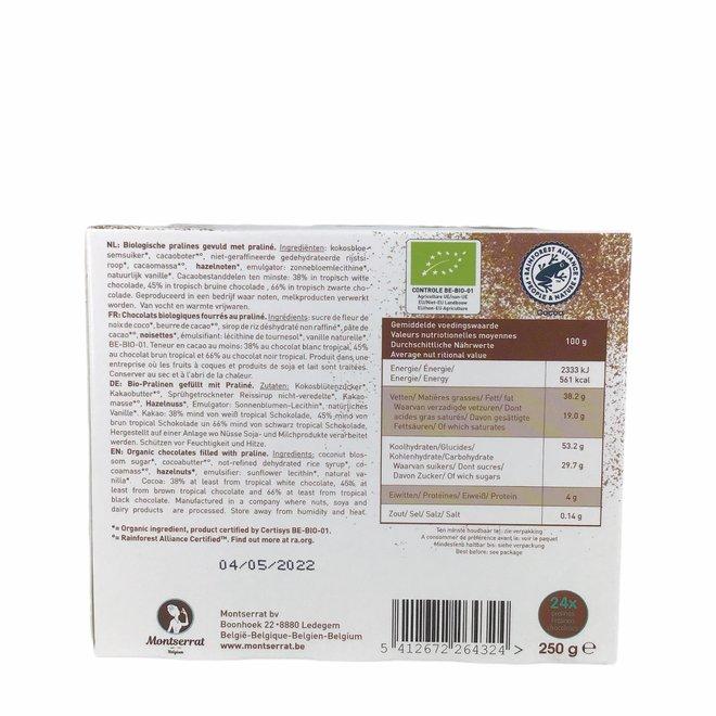 Belgische Bonbons met Pralinevulling - 250g - BIO