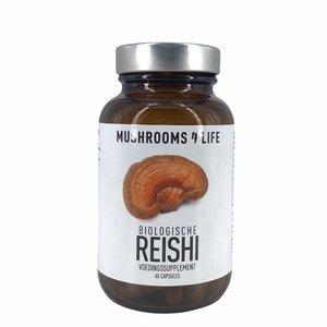 Mushrooms4Life Reishi - Organische Paddenstoel - 60caps - BIO