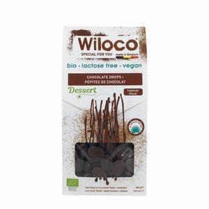 Wiloco Chocolade Druppels Puur Lactosevrij - 300g - BIO