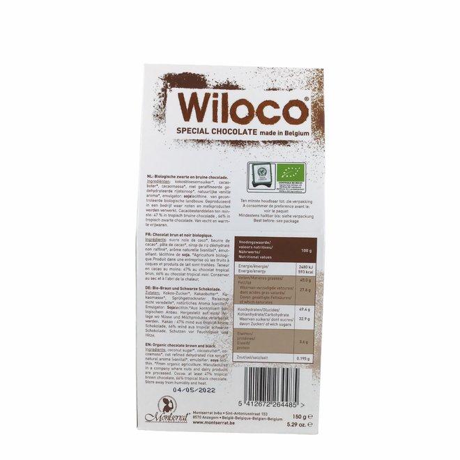 Chocoladeflikken Melk en Puur Mix - 150g - BIO