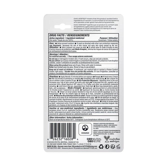 100% Minerale Zonnebrand Stick SPF30 - Parfumvrij - 18,4g