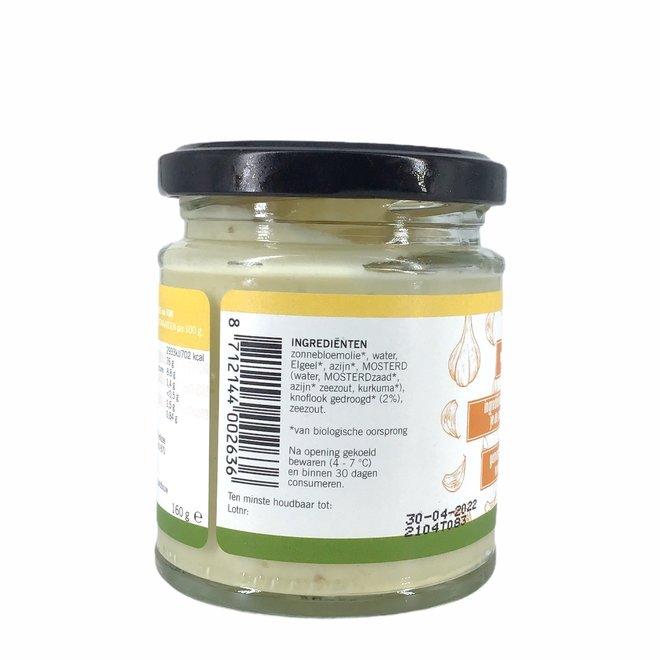 Mayonaise met knoflook (ongezoet) - 160g - BIO