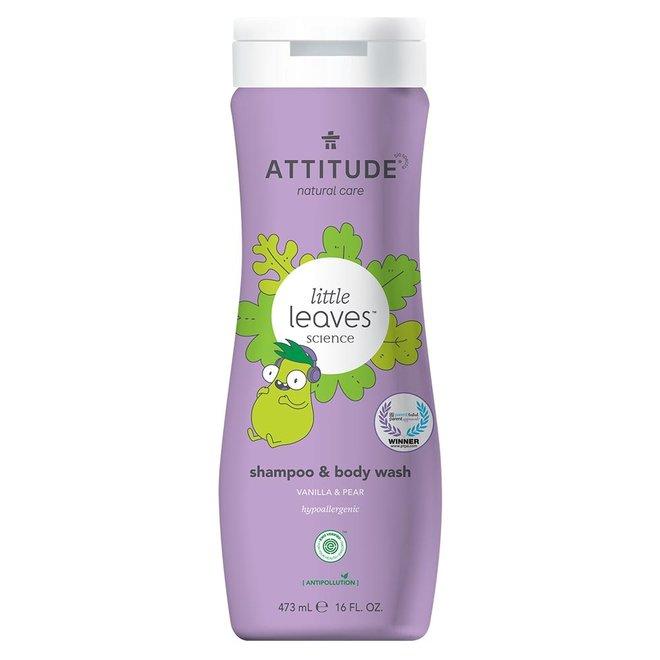 2-in-1 Kinder Shampoo en Bodywash - Vanille & Peer - 473ml