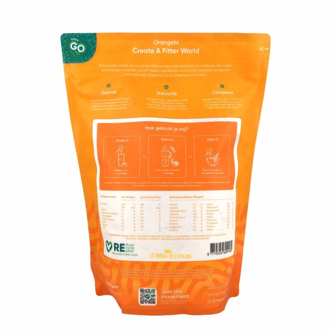 Protein Mango/Perzik met Zoetstoffen uit Stevia - 1kg