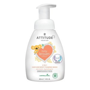 ATTITUDE 2-in-1 Baby Hair & Body Foaming Wash - Perennectar - 295ml