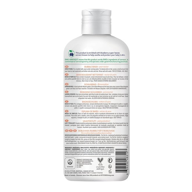 Baby Leaves - Bubble Wash Badschuim - Perennectar - 473ml