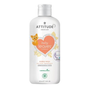 ATTITUDE Baby Leaves - Bubble Wash Badschuim - Perennectar - 473ml