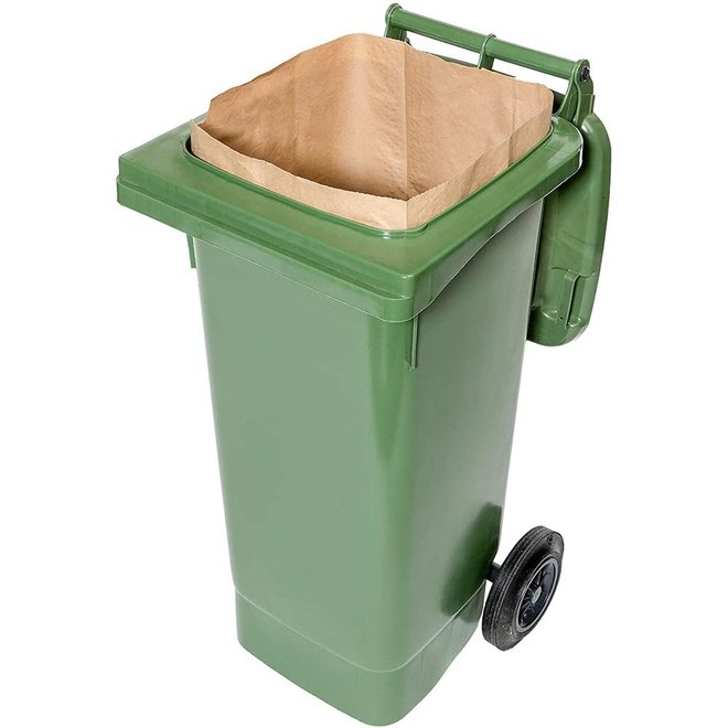 Composteerbare Papieren Containerzak 120/140L - 25 stuks