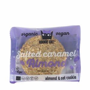 Kookie Cat Salted Caramel en Almond Koek - 50g - BIO