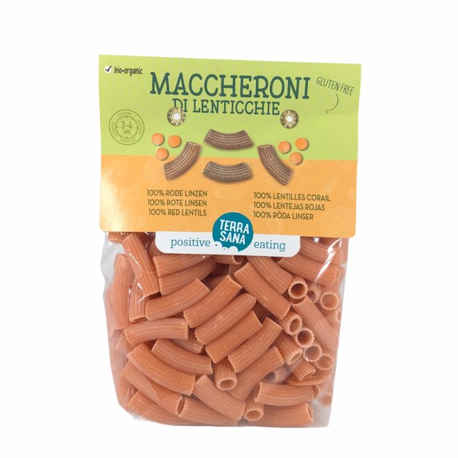 Maccheroni Pasta Rode Linzen 250g - BIO