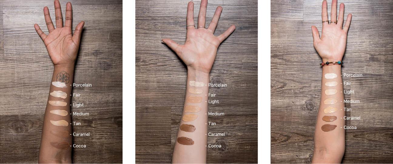 Verschillende tinten moisteriser op verschillende huidtinten