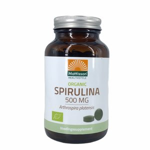 Mattisson Spirulina - Arthrospira platensis - (240 tabletten) 500mg - BIO