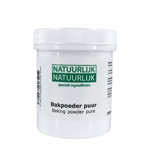 NatuurlijkNatuurlijk Bakpoeder Puur - 250g - zonder maiszetmeel