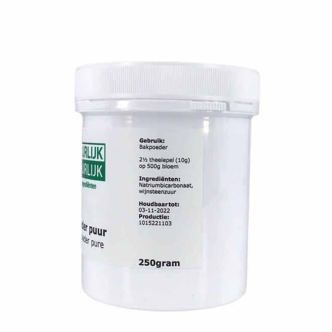 Bakpoeder Puur - 250g - zonder maiszetmeel