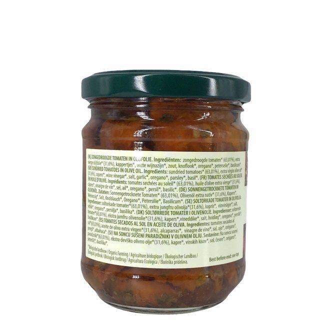 Zongedroogde tomaten in olijfolie - 190gr