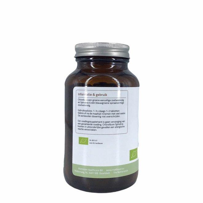 Organic Chlorella Spirulina - Chlorella vulgaris - Arthrospira platensis  -  (240 tabletten) 500mg - BIO