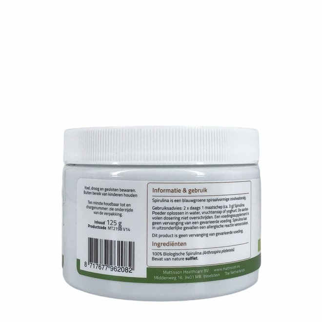 Spirulina Poeder - Arthrospira platensis - 125g - BIO