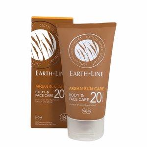 Earth Line Zonnebrand Argan SPF 20 - 150ml - BIO