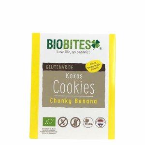 Biobites Chunky Banana Kokoskoekjes - 65g - BIO