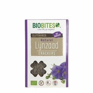 Biobites Lijnzaadcrackers Naturel - (6st) 90g - BIO