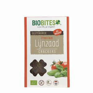 Biobites Lijnzaad Crackers Italian - (6st) 90g - BIO