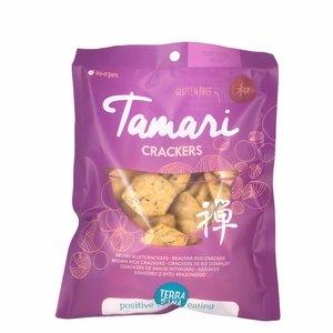 Terrasana Japanse bruine rijstcrackers - 60g