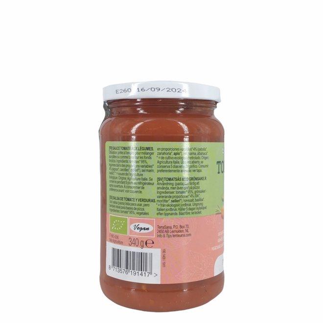 Tomatensaus met groente - 340g - BIO