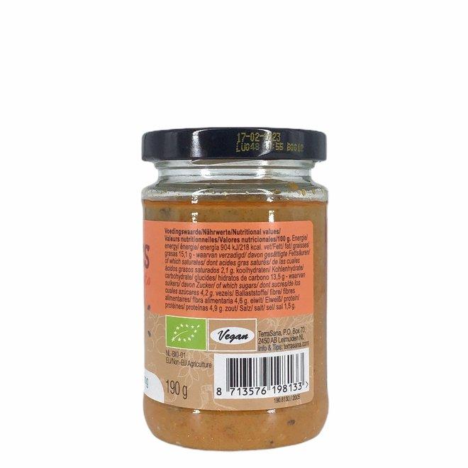 Hummus Spread met Zongedroogde Tomaten - BIO