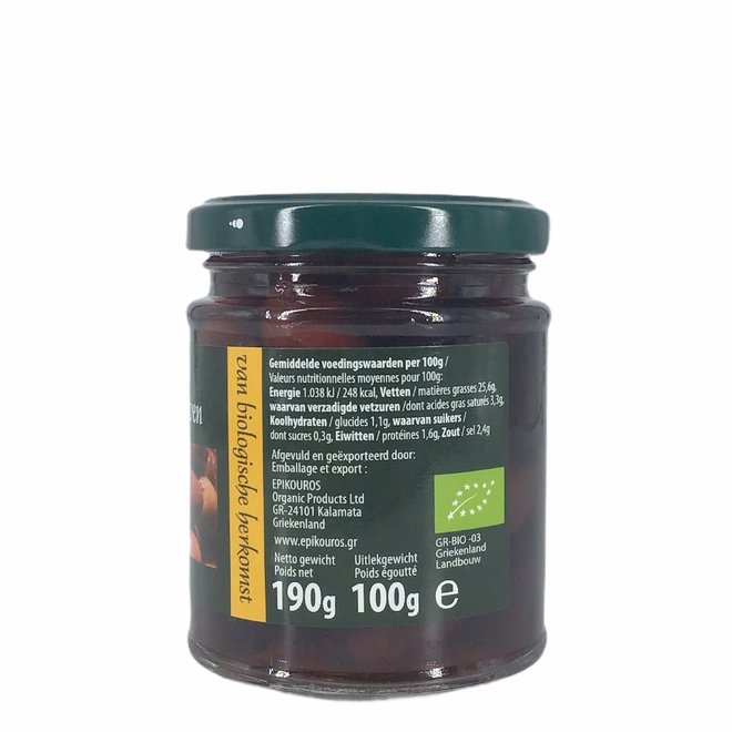 Kalamata olijven zonder pit 190g (ongeverfd)-BIO