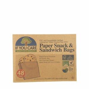 If You Care Papieren Boterhamzakjes  48 zakjes - BIO