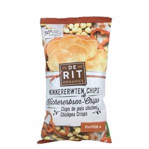 De Rit Kikkererwtenchips met paprika - 75gr - BIO