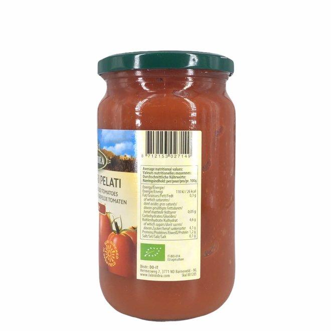 Tomaten gepeld (glas) 660g-BIO
