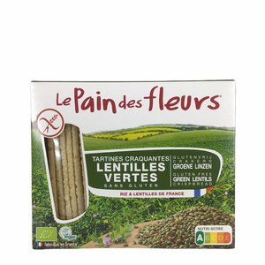 Le Pain des Fleurs Groene Linzen Crackers - 150gr - BIO