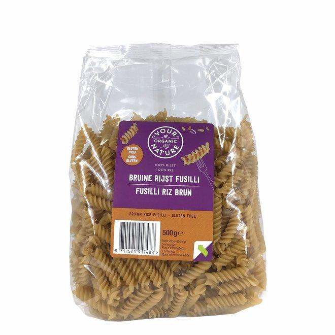 Bruine Rijst Pasta Fusilli 500g - BIO