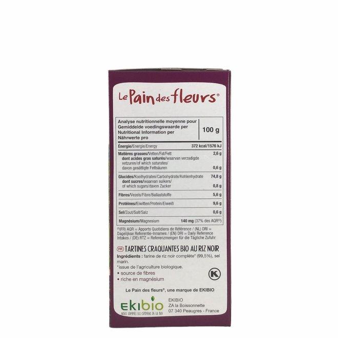 Krokante crackers zwarte rijst - 150gr - BIO