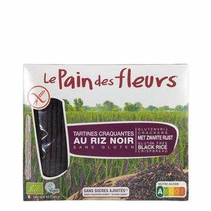 Le Pain des Fleurs Krokante crackers zwarte rijst - 150gr - BIO