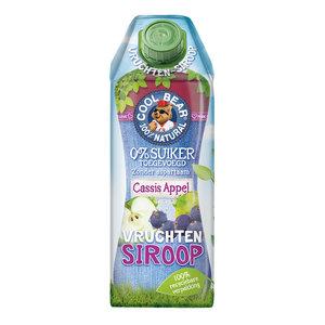 Cool Bear Siroop Cassis-Appel met Zoetstoffen uit Stevia - 750ml