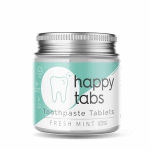 Happy Tabs Fluoride Vrije Tandpasta Tabletten - Fresh Mint - 80 tabs  + Gratis Bamboe Tandenborstel!