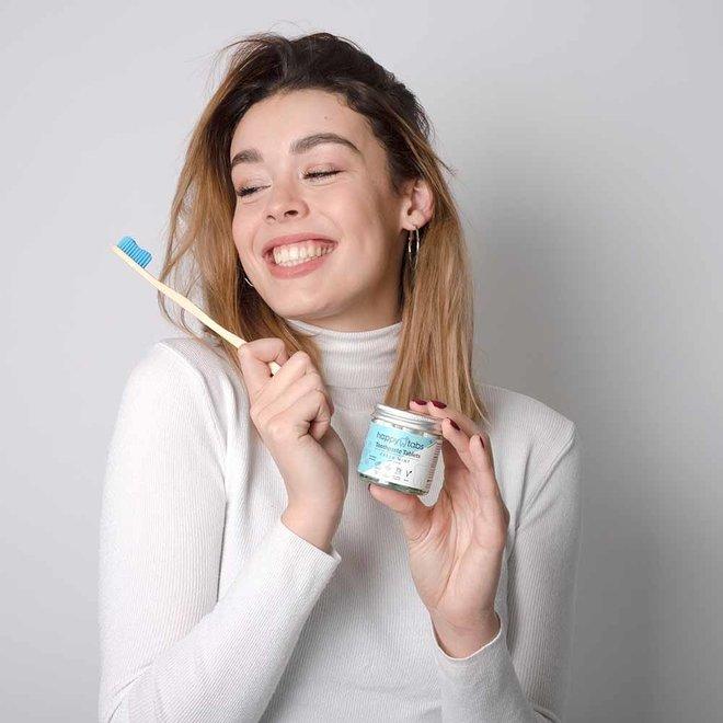 Fluoride Vrije Tandpasta Tabletten - Fresh Mint - 80 tabs  + Gratis Bamboe Tandenborstel!