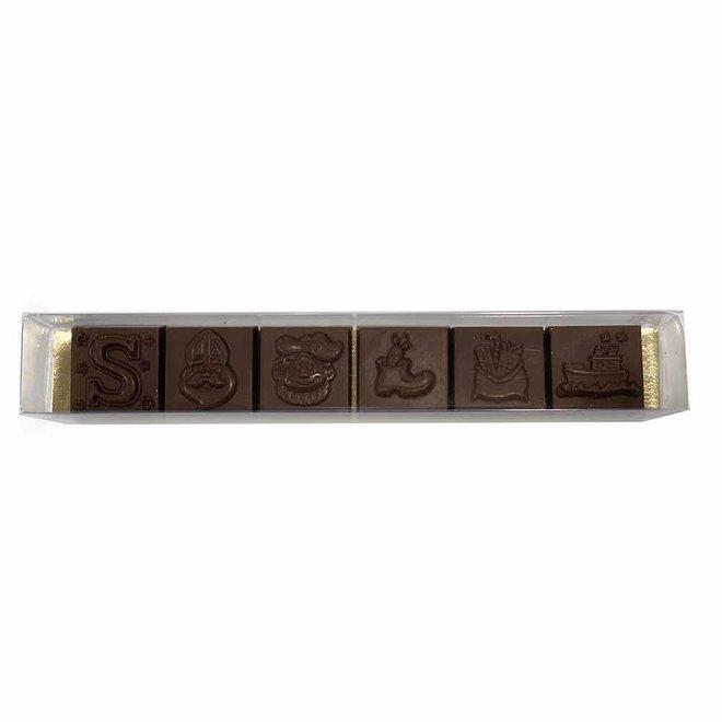 6 Chocolade Sint Figuurtjes - 47% Cacao - Allergenenvrij - BIO
